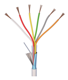 Cable d'alarme 6*0,22+SH...